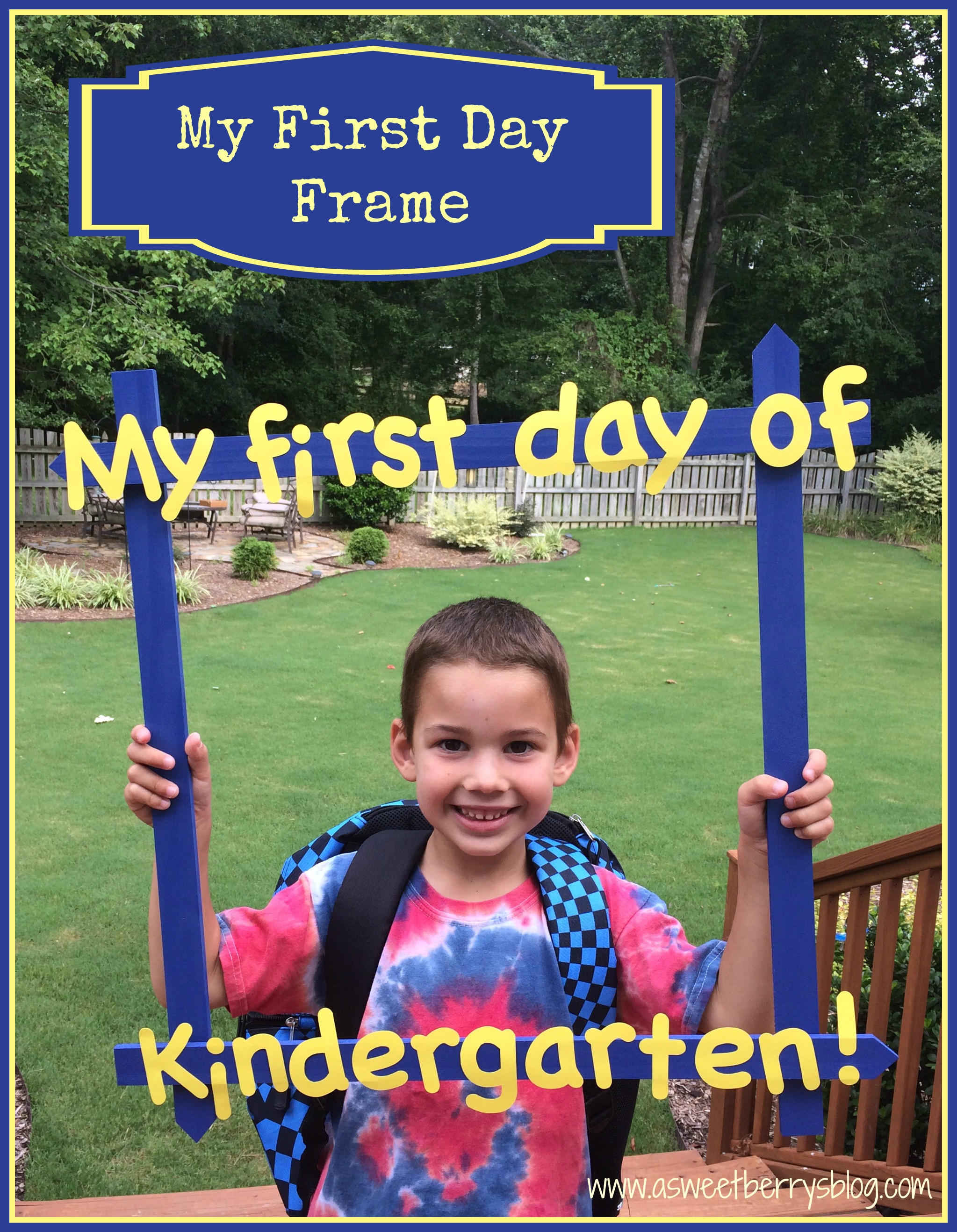 Back To School Picture Frame | A Sweet Berry\'s Blog