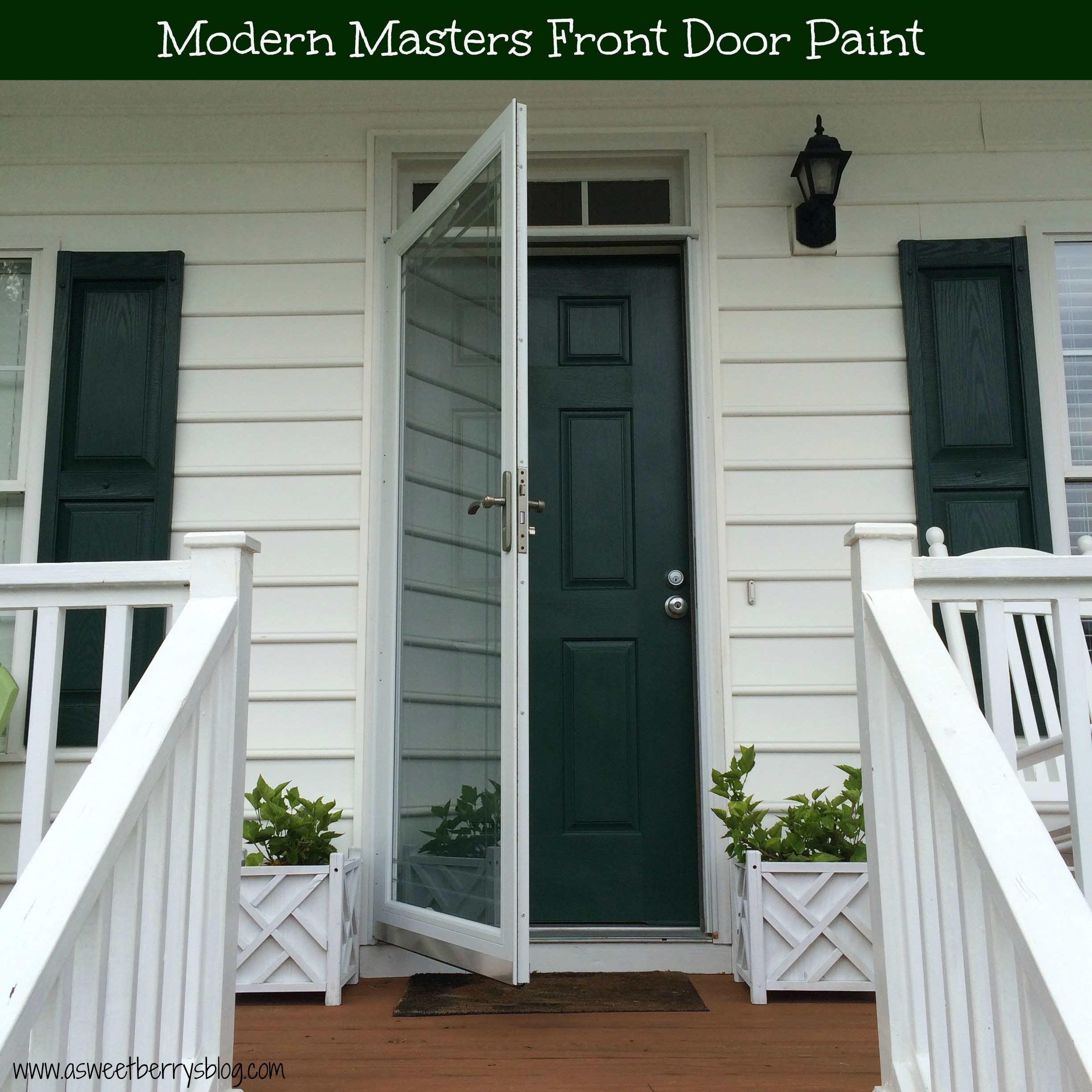 Modern masters front door paint a sweet berrys blog i can not say enough good things about modern masters front door paint i love that a little bit goes a long way one jar was enough to cover my front door rubansaba