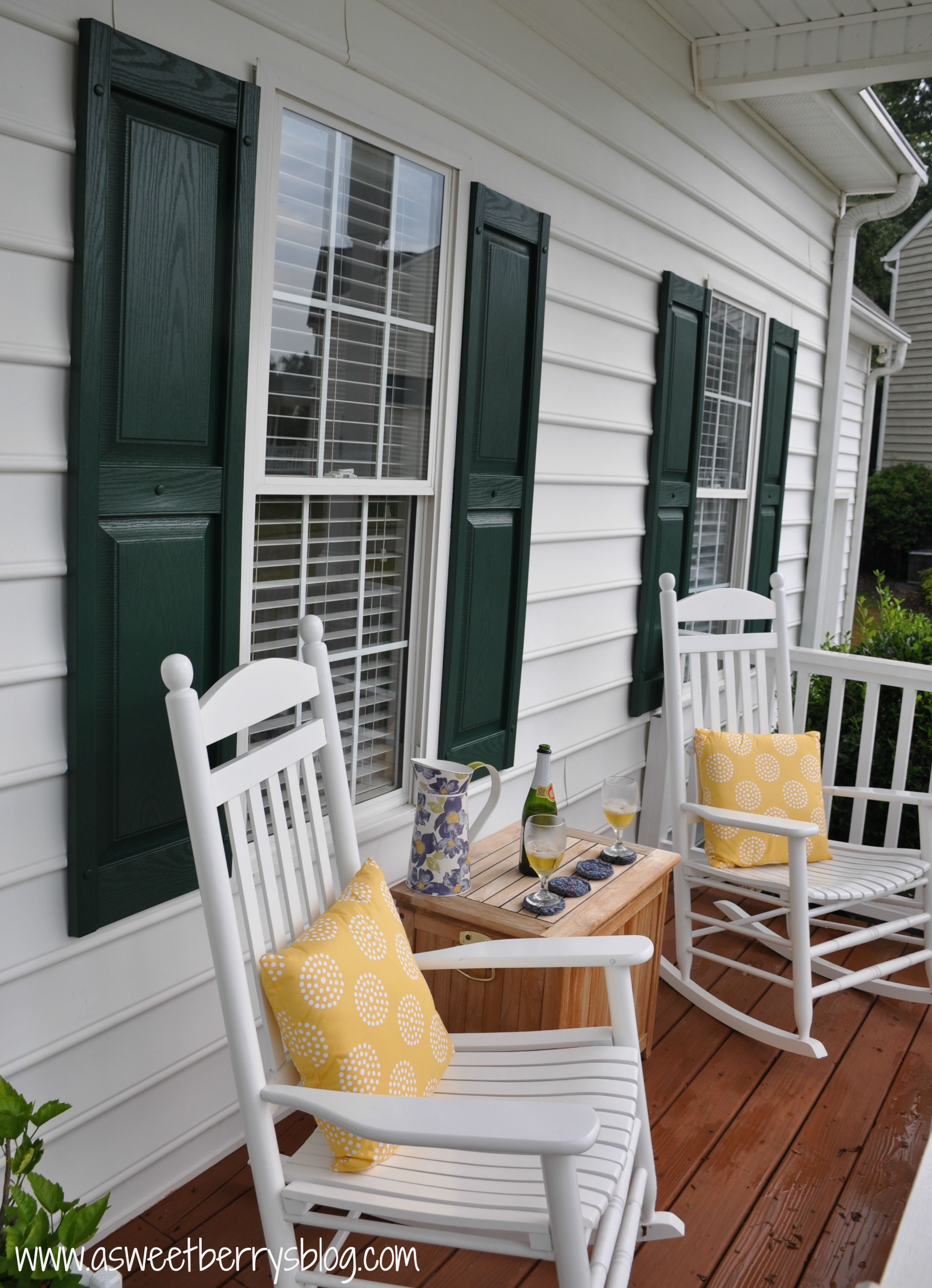 shutters and chairs