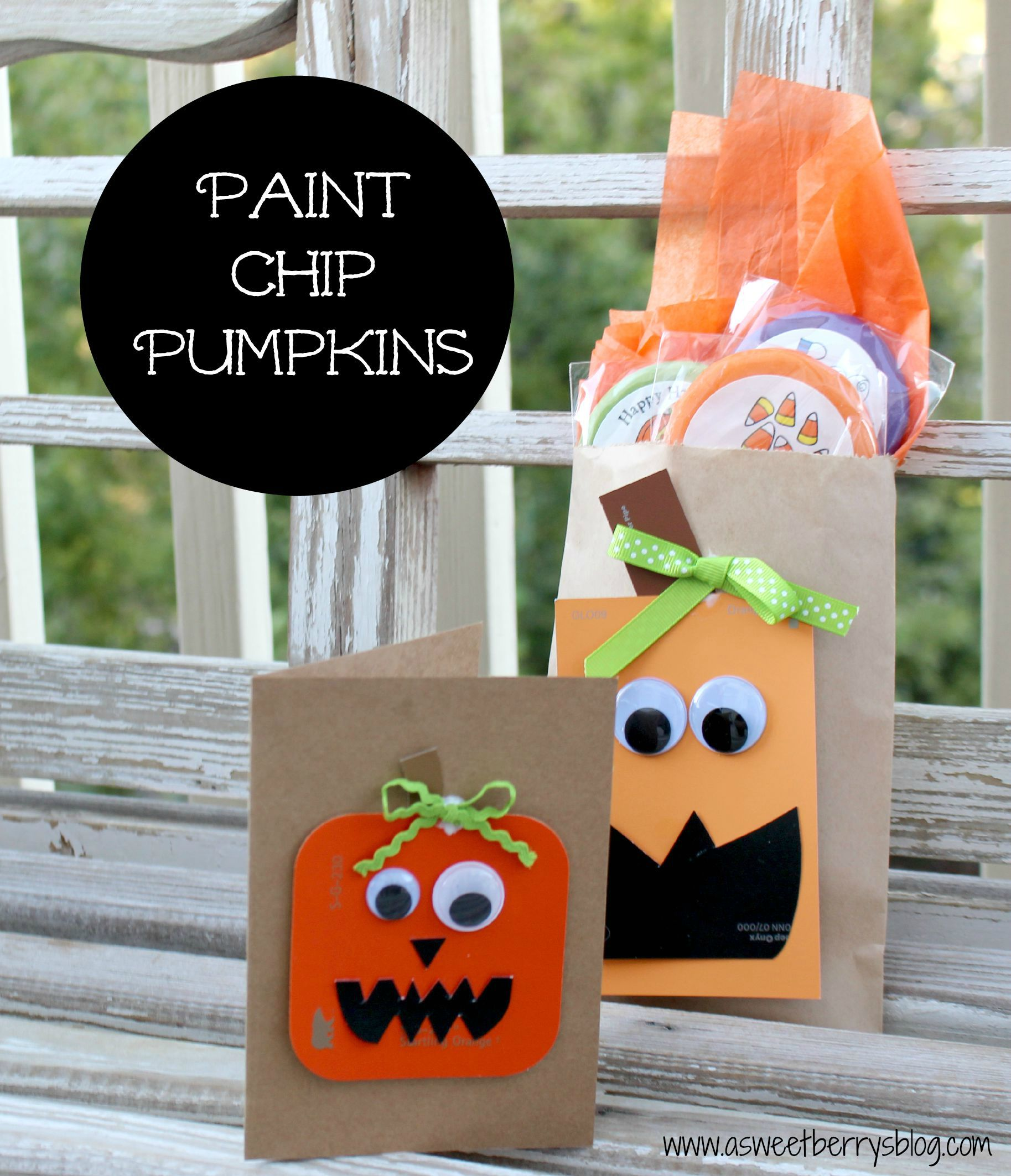 Paint Chip Pumpkins