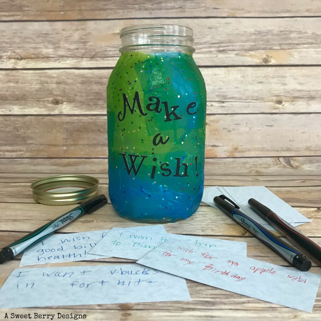 Decoupage Make A Wish Jar A Sweet Berry Designs Blog